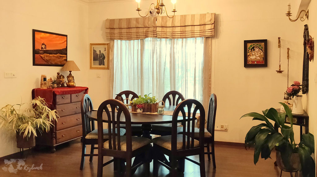 Jayashree Rajan's garden apartment tour on The Keybunch: Dining room