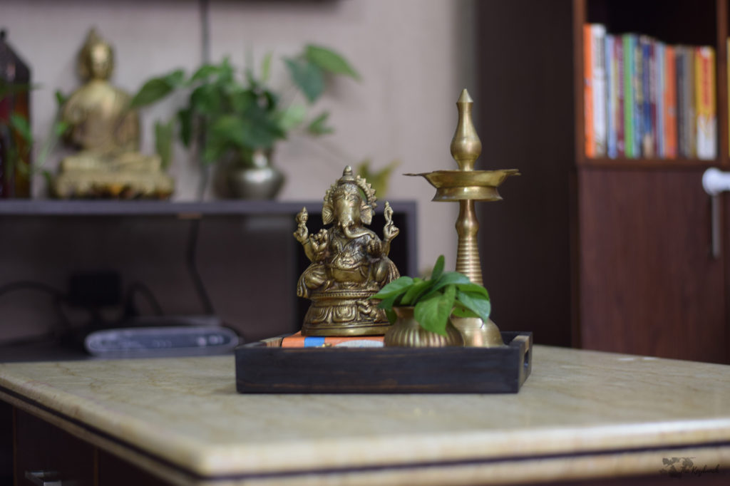 Home decor Tour by Ankita and Sitanshu's in Lucknow - brass collection in every corners of the home