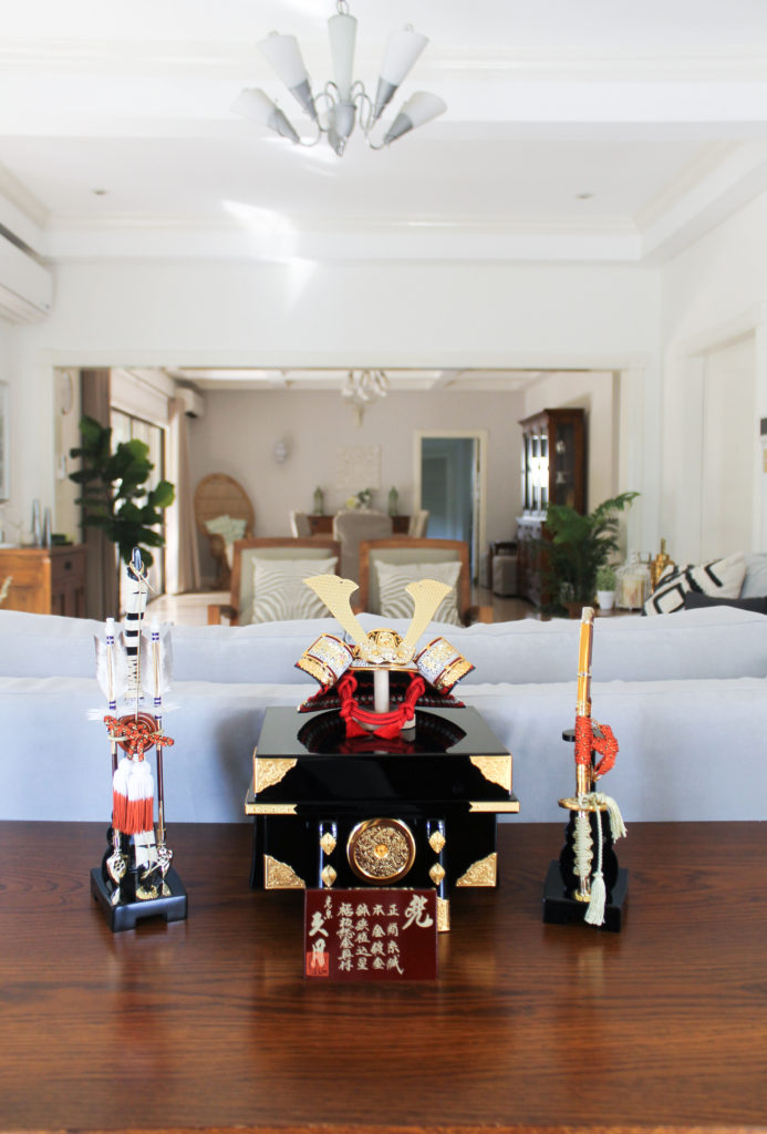 Home Tour with Kaho of Chuzai Living - a traditional Japanese Boy's day set at the living room