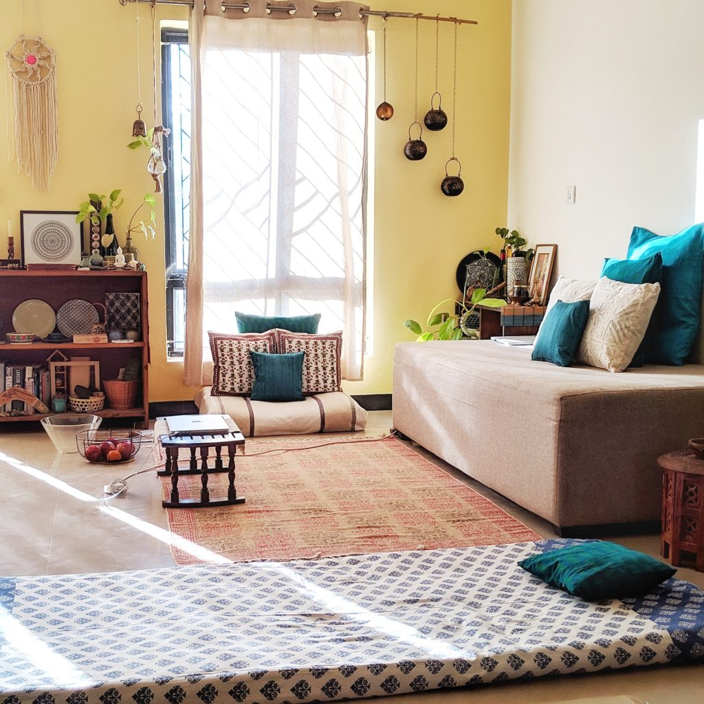 Jayati and Manali share their home tour as the science home décor - The pretty touches living area and spaces which can spend most of leisure time