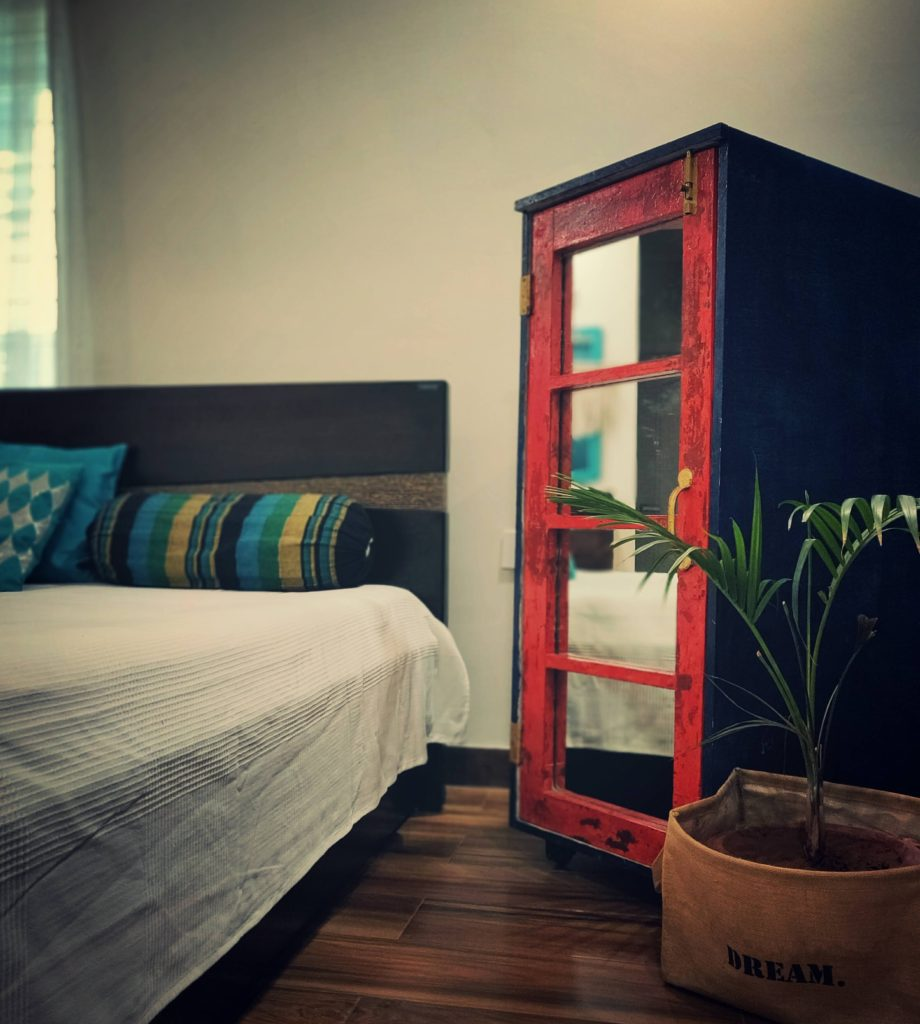 Home style Tour with Rajni in Hyderabad: DIY cabinet at the bedroom