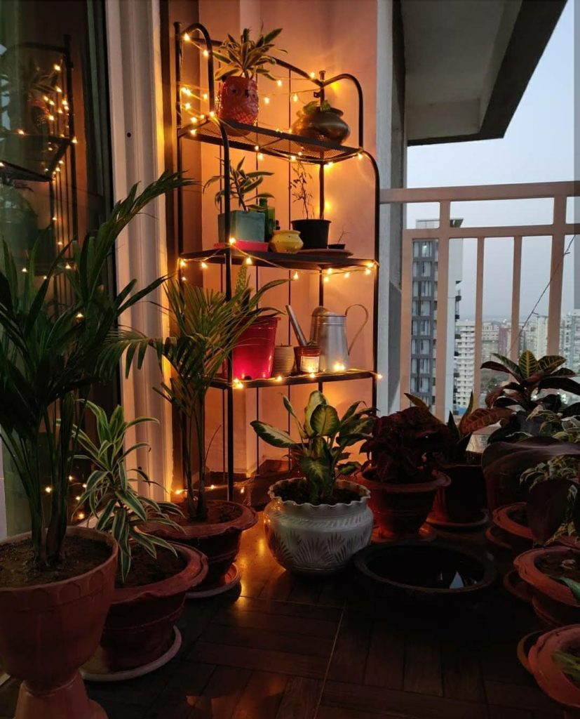 Home style Tour with Rajni in Hyderabad: Bring nights alive with fairy lights at balcony