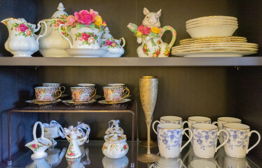 Affinity for antiques and collection of vintage | Home tour of Rushika & Dipkal's - Vintage tea set from China