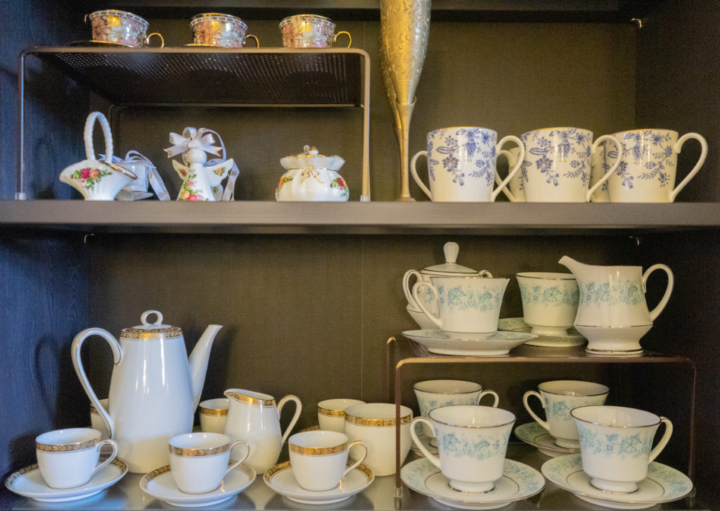 Affinity for antiques home tour of Rushika & Dipkal's - Vintage tea set from China
