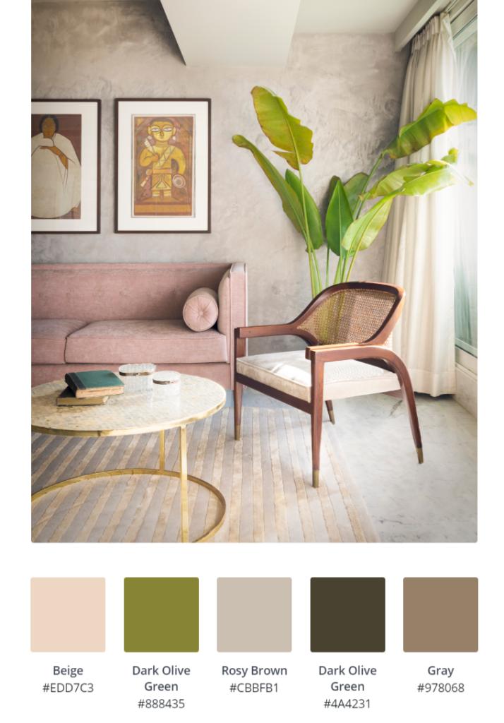 Home Renovation Story | Mohamedi & Durriya Sham's Aesthetic Mumbai Home - The living room colour palette