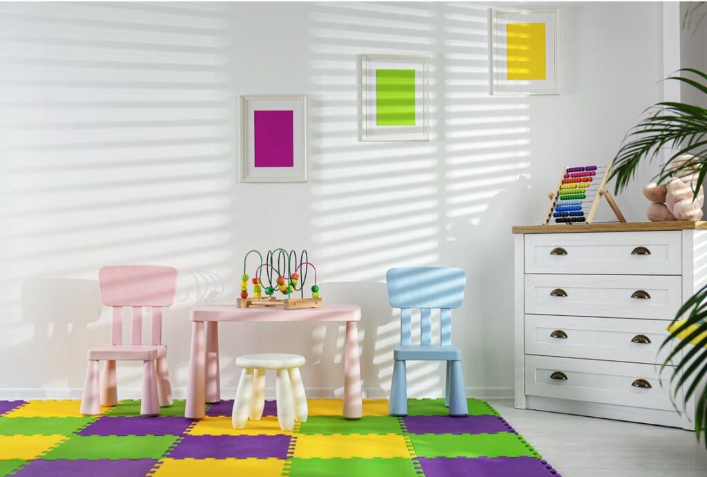 a safe space for indoor play for toddlers