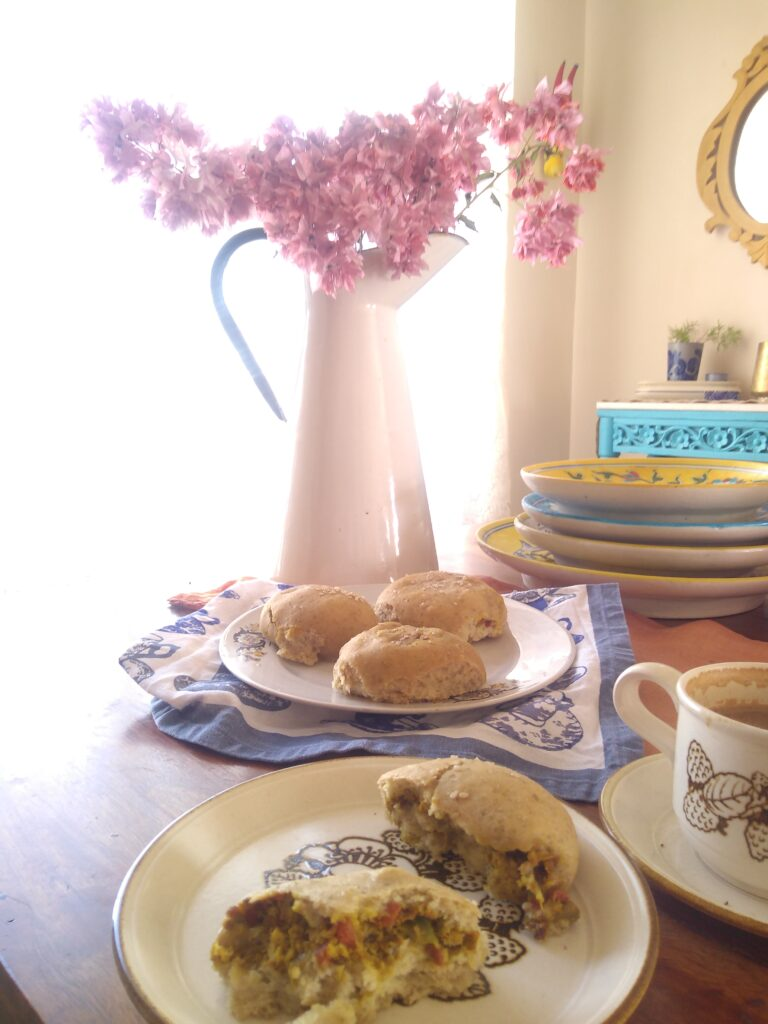 A beautiful savoury stuffed bun recipe
