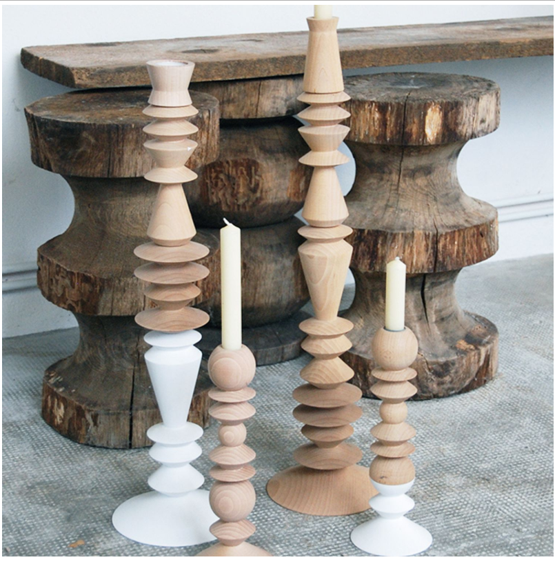 Beech wood Candlesticks in a modern vintage touch |decor goals 2020 for india