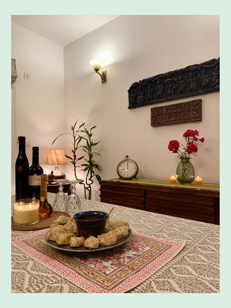 Dining room, tablescape, Anuradha Singh home tour, thekeybunch