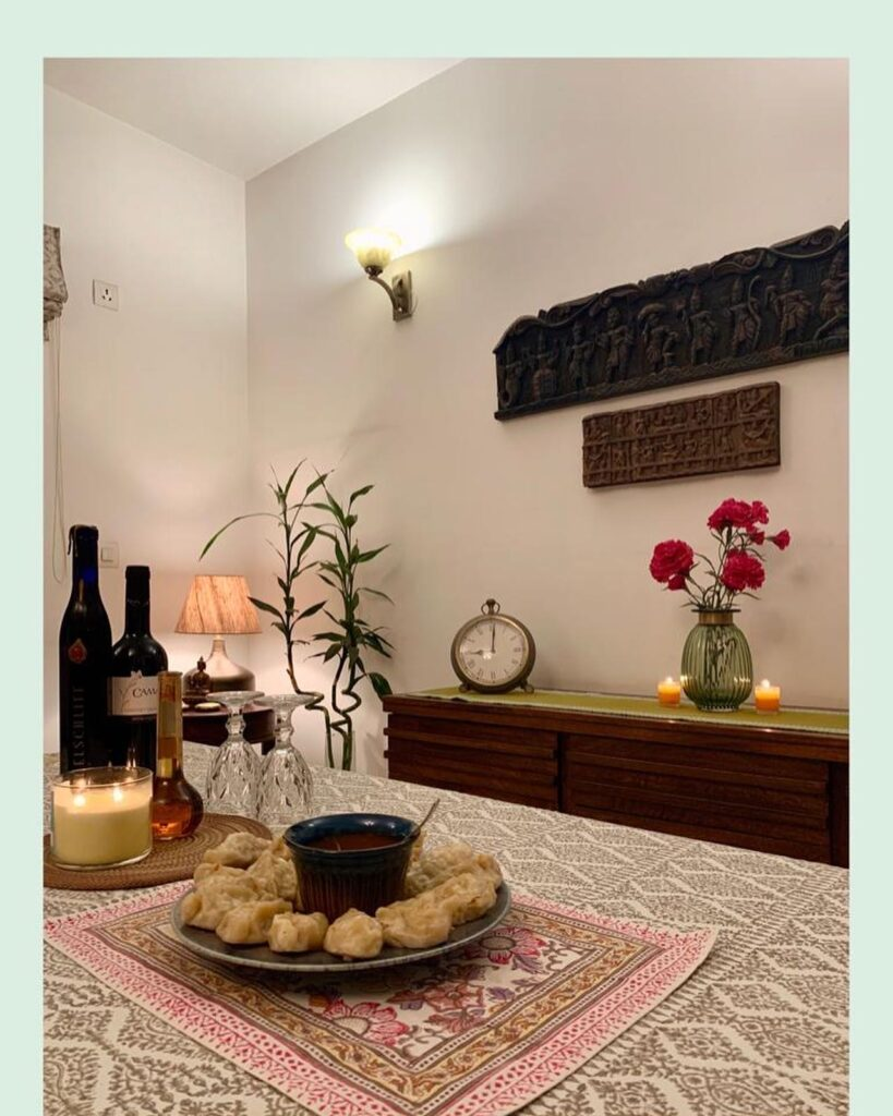momos, dining table, Anuradha Singh home tour, thekeybunch