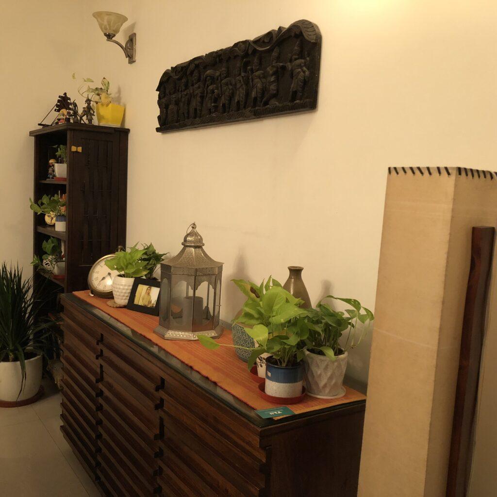 sideboard, Anuradha Singh home tour, thekeybunch