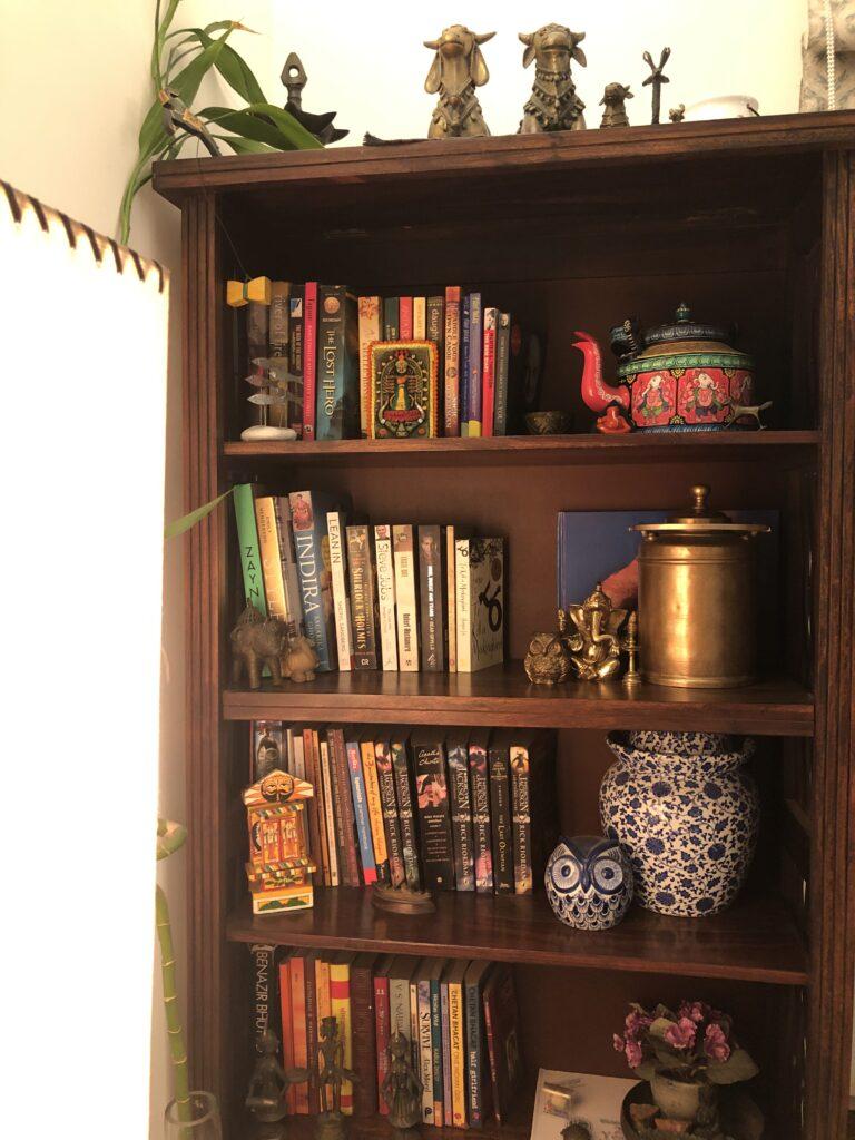 book shelf, Anuradha Singh Home tour, thekeybunch