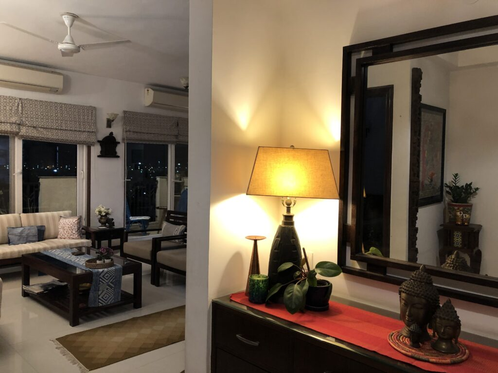 living room, foyer Anuradha Singh home tour, thekeybunch