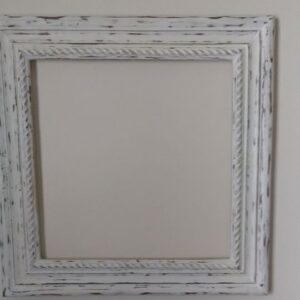 Square white teak wood frame with chalkboard