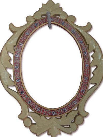 hand-carved wooden frame