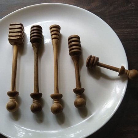 Set of 5 Honey dippers - The Keybunch Wooden products