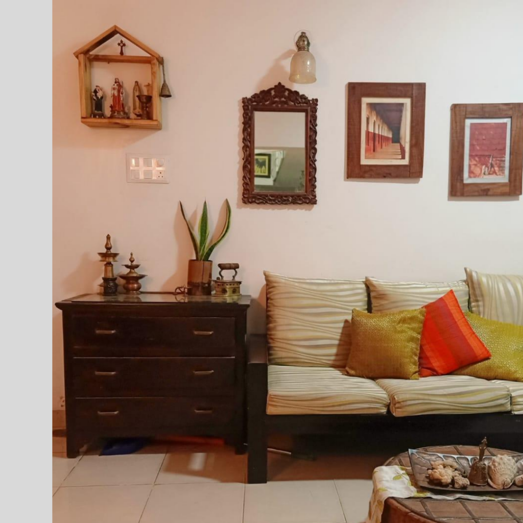 Living space is interspersed with antiques and interesting collectibles | Leesha's Pune home | Thekeybunch