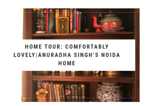 Tour Anuradha's creative craft centred home.