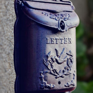 Buy our cast iron vintage letter post box from thekeybunch decor