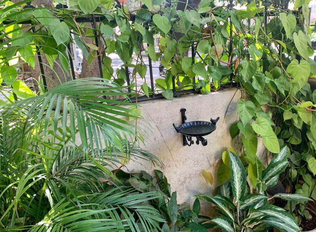 Antique Cast iron bird feeder for garden decor | Thekeybunch decor product