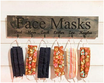 The solution to keep mask, organized and easily available as head out the door | Nitido interior designers | theKeybunch decor