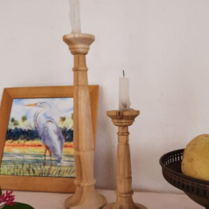 100% teak wood candle stands