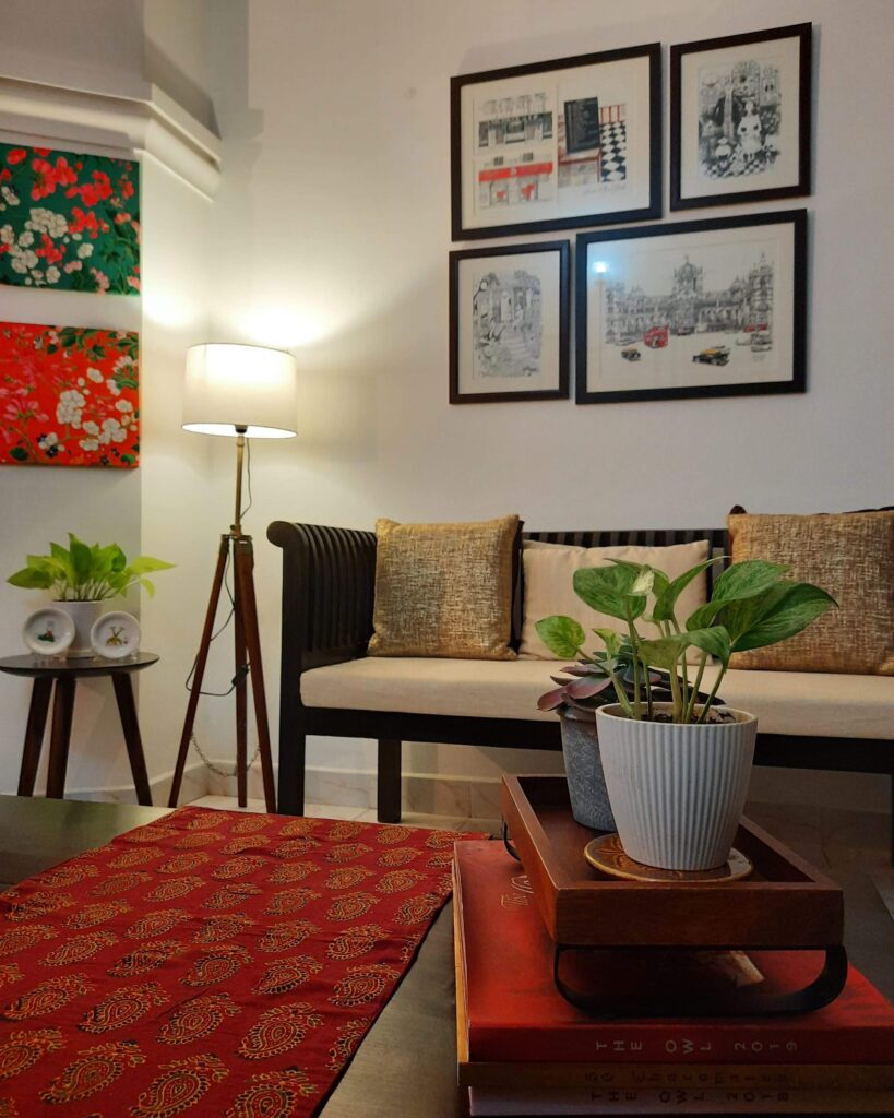 the pretty heart-centred living room | Upasana Talukdar home  tour | thekeybunch decor