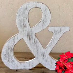 Buy our Faux Vintage Ampersand from theKeybunch decor