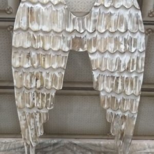 Wooden angel wings for home decor