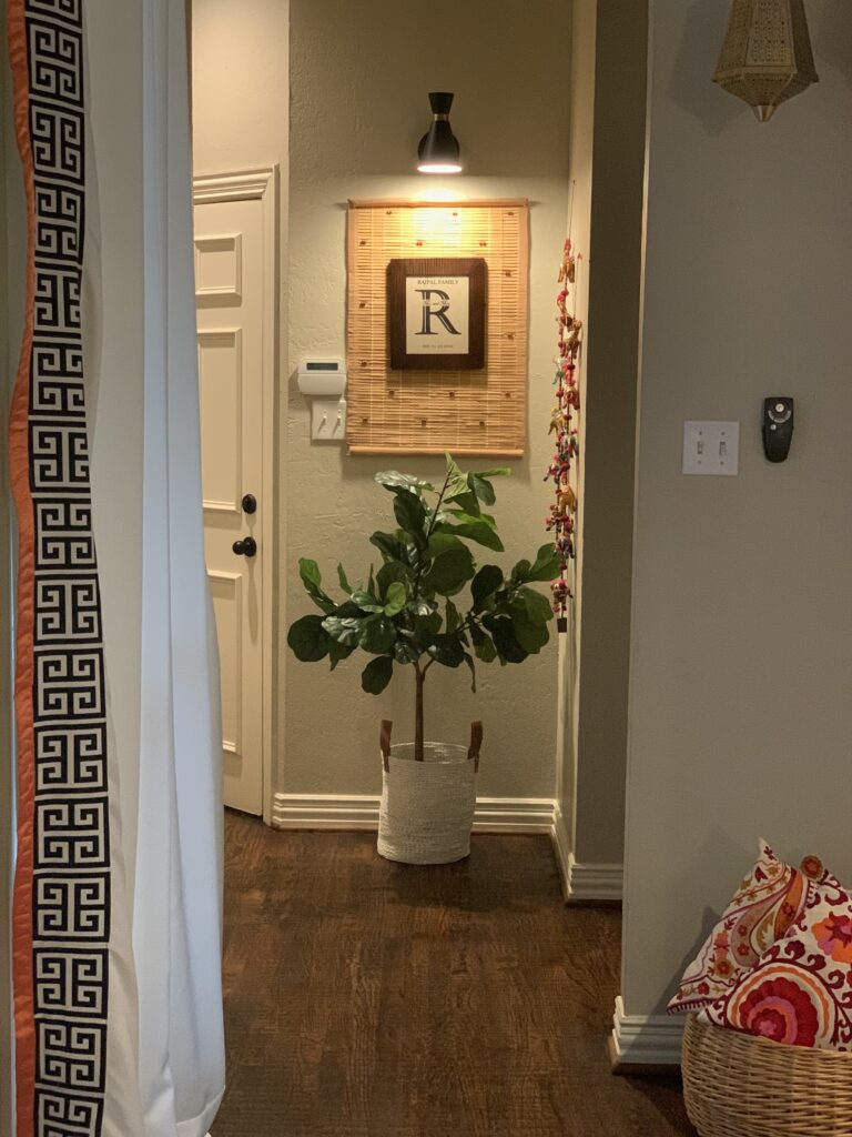 green plants at the corner of the room  | Ruma's Indian Home in Texas | theKeybunch decor blog