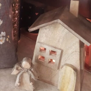 our Wooden Christmas house from theKeybunch decor for home decoration