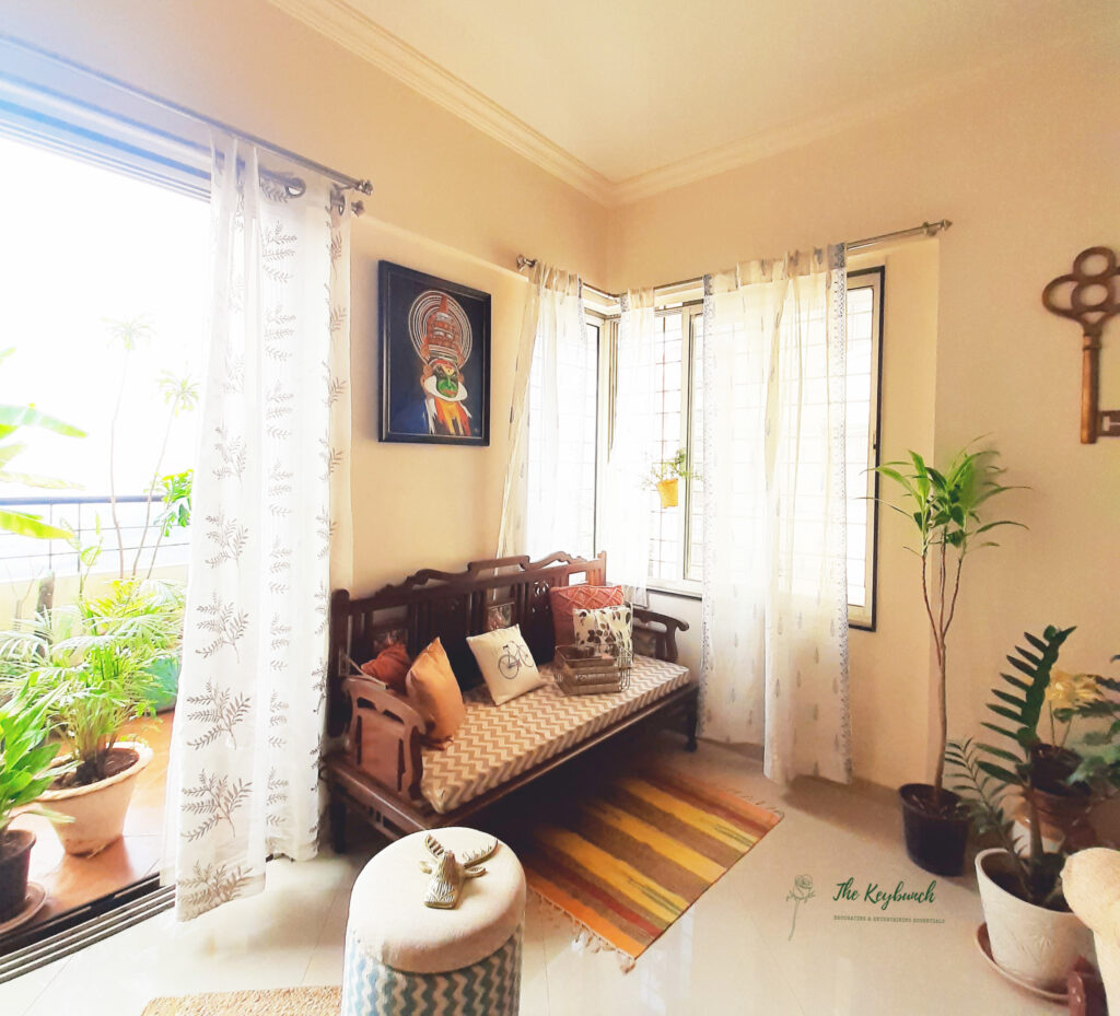 A green balcony view from the living room | Areas where an Interior Stylist can help you | Thekeybunch decor blog