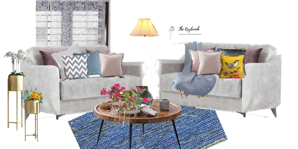 The space is styling cohesively, colours, textures, accent pieces, antiques and collectibles, lighting advice, fabric for upholstery are done by the Interior Stylist | What does an Interior Stylist do | Thekeybunch decor blog