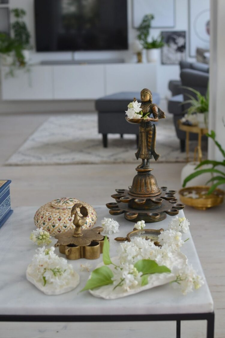 The centerpiece decor ideas for living room table | Naina's Scandi-Indian minimal home
