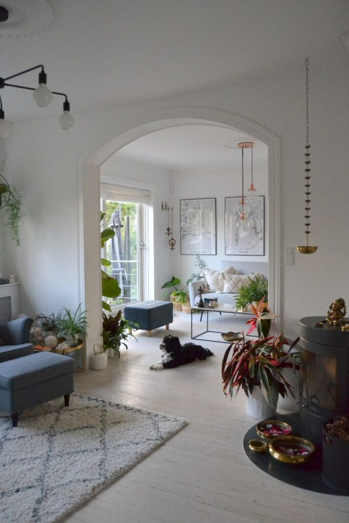 The beautiful living room space | Naina's Scandi-Minimalist Home with Indian Accents