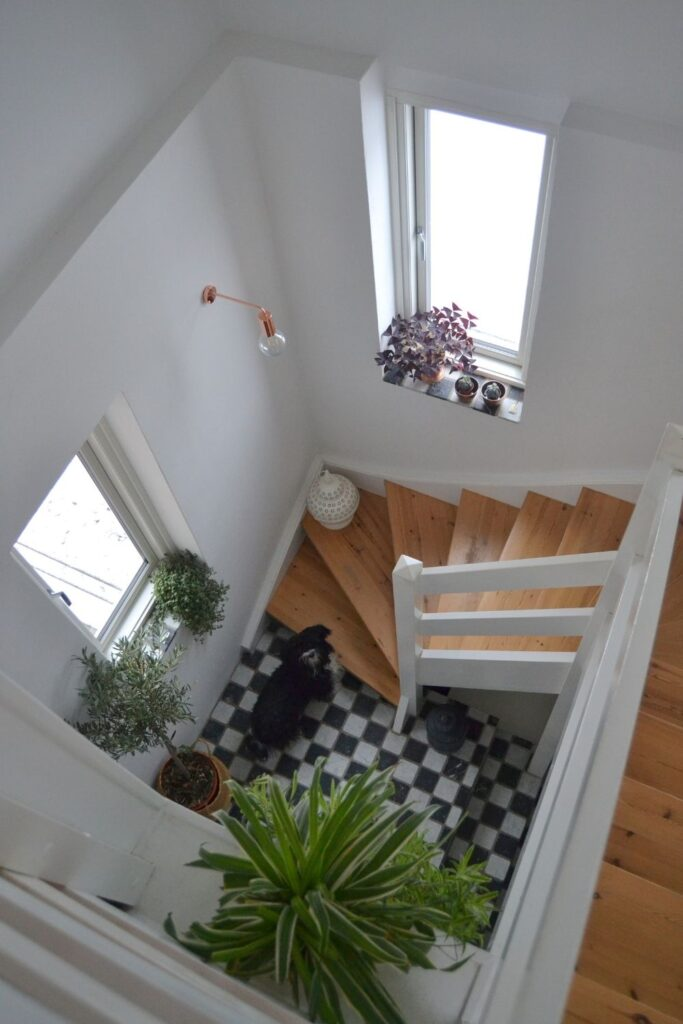 Top view of stairway | Naina's Scandi-Minimalist Home with Indian Accents