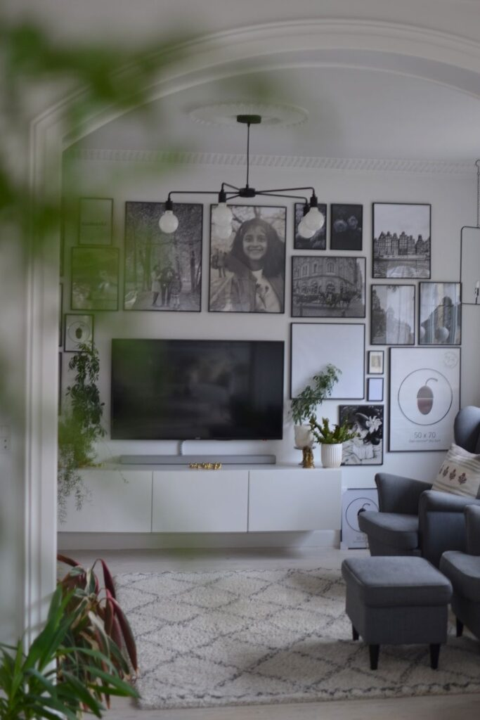 The black and white gallery wall | Naina's Scandi-Minimalist Home with Indian Accents
