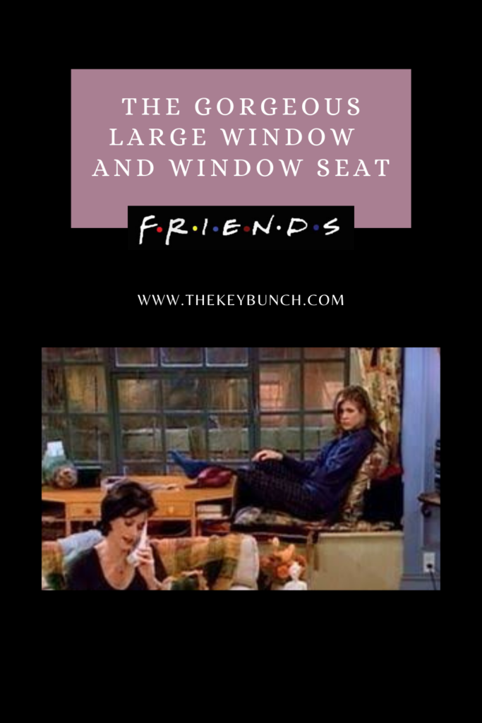 The giant windows and lovely window seat at Friends set | DECOR ELEMENTS FROM THE SET THAT ARE COOL EVEN TODAY | theKeybunch decor blog