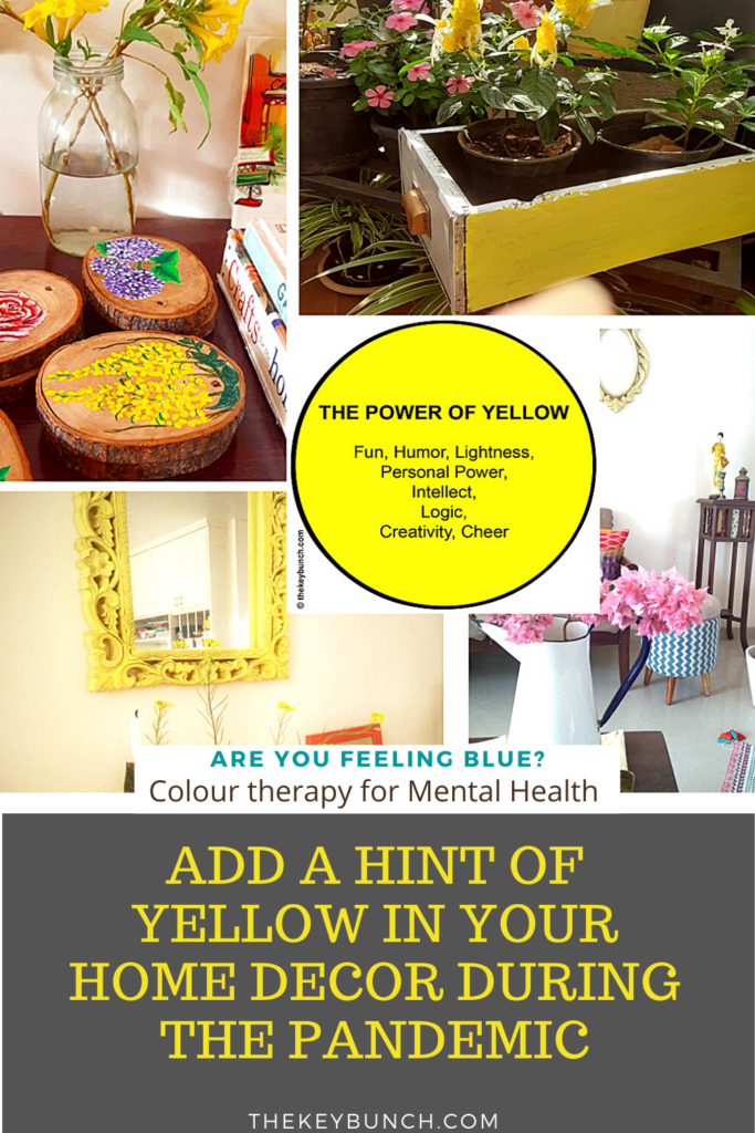 Decorate with a touch of yellow during the pandemic | Add yellow in your home decor to boost your mental health