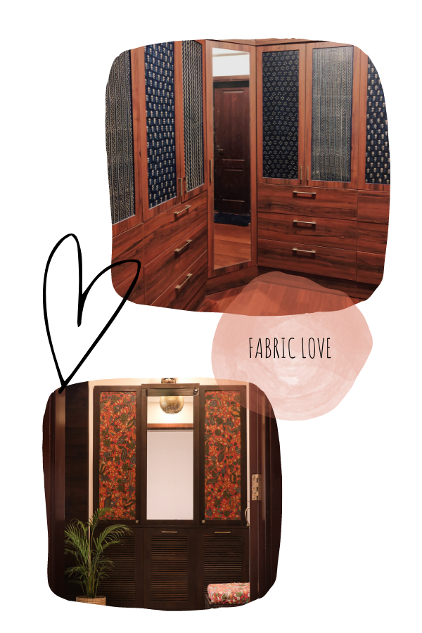 Wood is pasted with indigenous fabric  | Home Tour: A beautiful Antique Modern home in Bangalore
