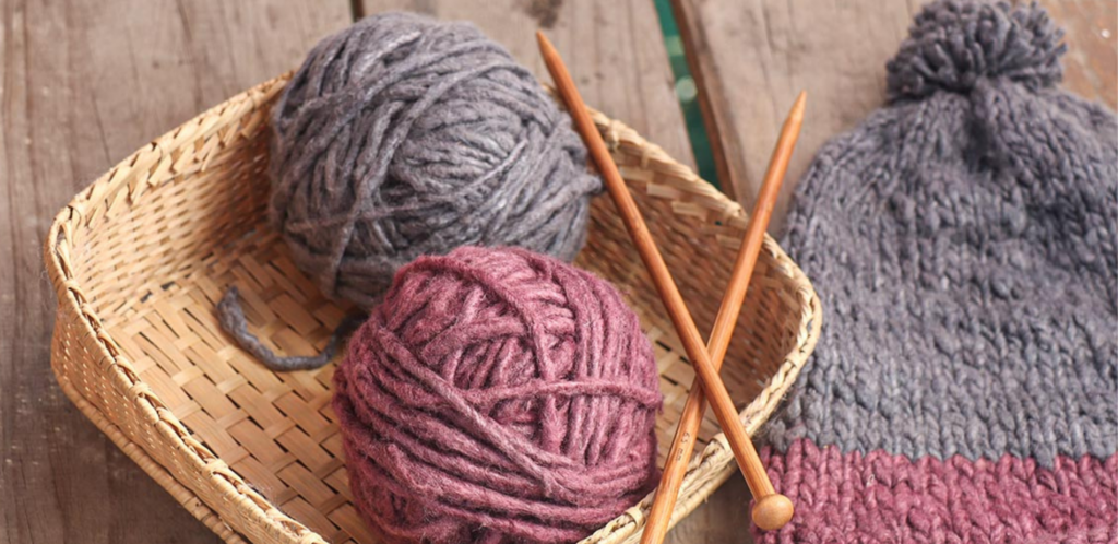 eri silk threads set up for a knitting project | 6 Tapestry DIYs on Muezart's home-use loom