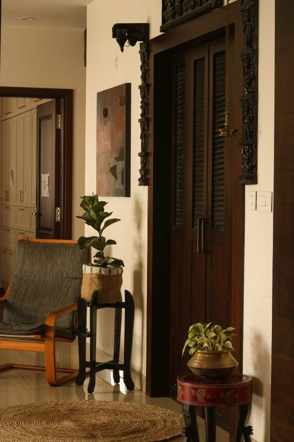 Footstools and settees handcrafted 50 years ago | Home Tour: A beautiful Antique Modern home in Bangalore