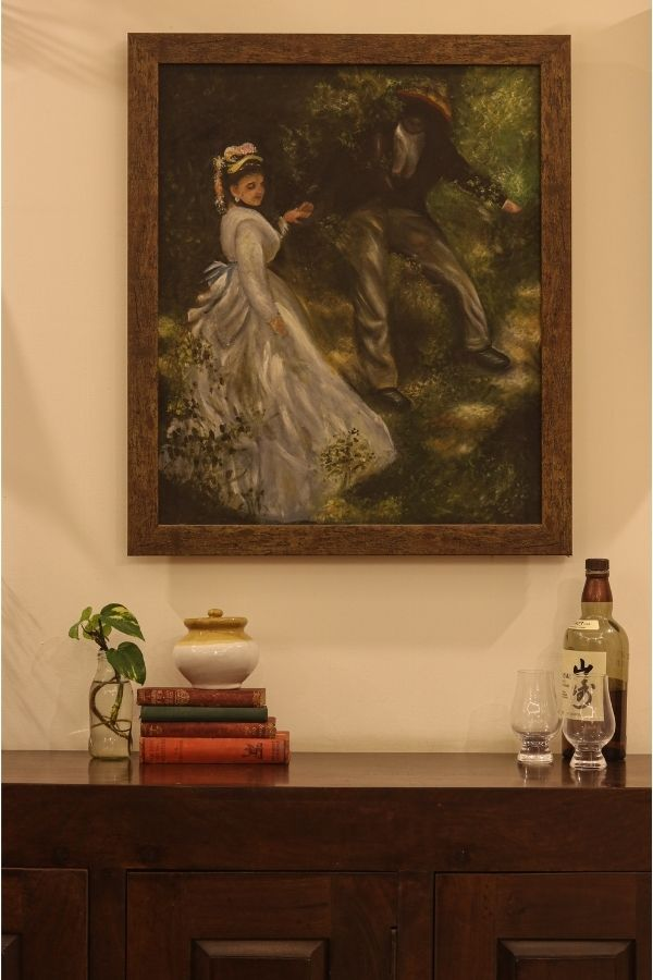 The painting frame by Indira | Home Tour: A beautiful Antique Modern home in Bangalore