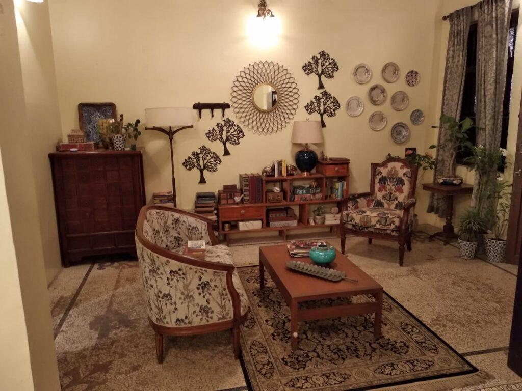 Villa Rashmi - A Heritage Gem in Mumbai   The private living room decoration   TheKeybunch decor blog