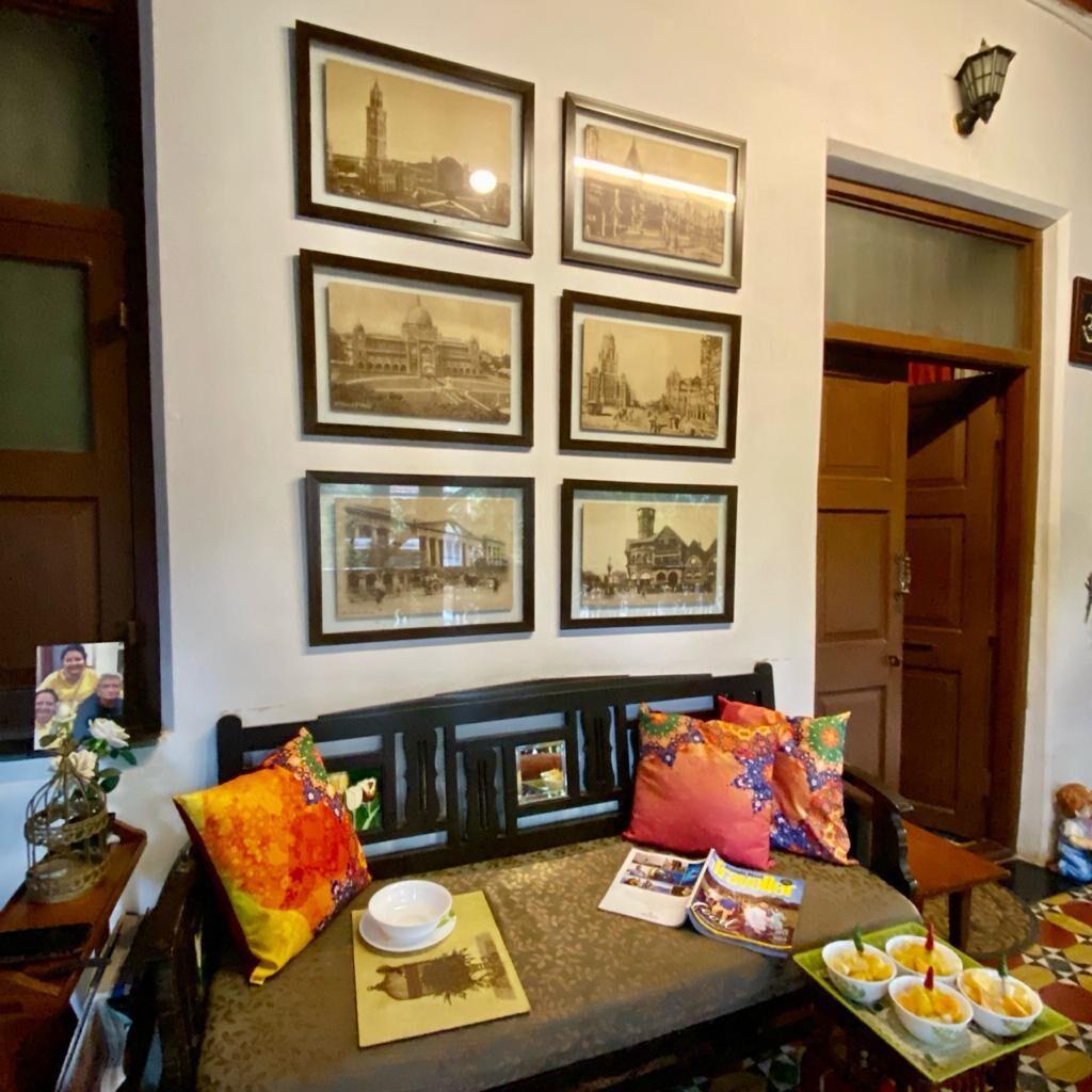 Villa Rashmi - A Heritage Gem in Mumbai   Having refreshment at the private family room   TheKeybunch decor blog
