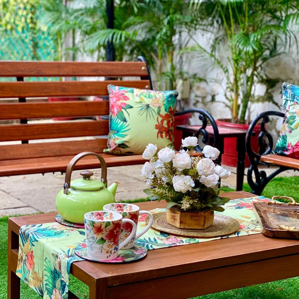 Villa Rashmi - A Heritage Gem in Mumbai   The pleasure of tea in the garden   TheKeybunch decor blog