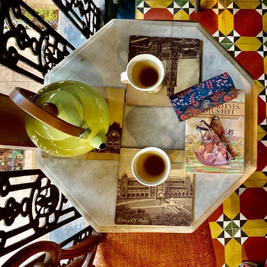 Villa Rashmi - A Heritage Gem in Mumbai   Tea party in the verandah   TheKeybunch decor blog