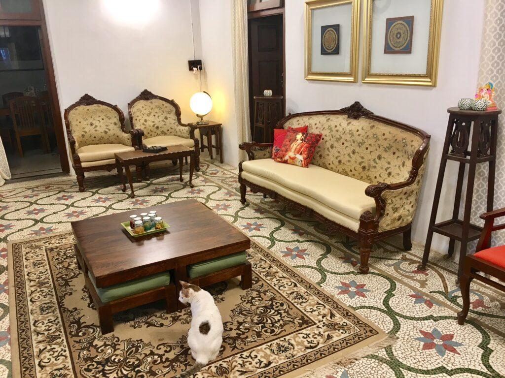 Villa Rashmi - A Heritage Gem in Mumbai   The private living area were the family inhabits   TheKeybunch decor blog