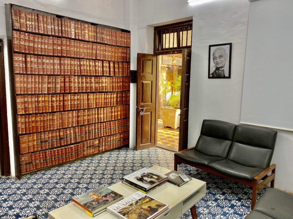 Villa Rashmi - A Heritage Gem in Mumbai   Vintage books at Villa Rashmi office   TheKeybunch decor blog