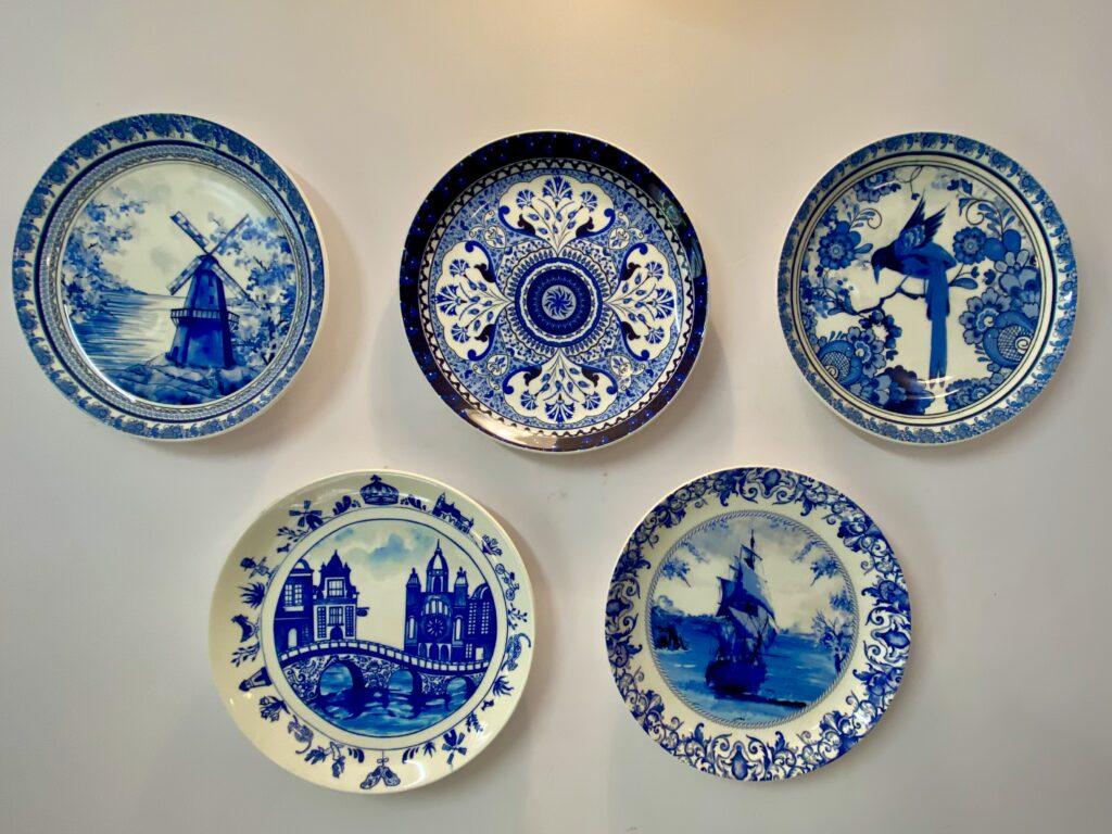 Villa Rashmi - A Heritage Gem in Mumbai   The beautiful collection of blue plates on wall   TheKeybunch decor blog